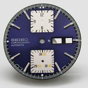 SEIKO Blue Dial for  6138 6138-0030 6138-0031 Kakume Chronograph Watch