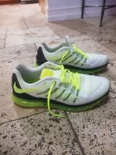 Nike Air Max White, Volt and Black. Mesh Running Shoes, very rare. Size US13