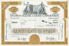 1974 Madison Square Garden Stock Certificate