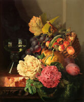 Classical oil painting still life Flowers Giclee Art Printed on canvas L1717
