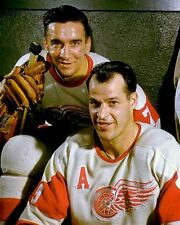 Gordie Howe Ted Lindsay Detroit Red Wings 8x10 Photo