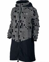 Nike International Long Hooded -  Women' s Jacket - Black / Grey Print - Small