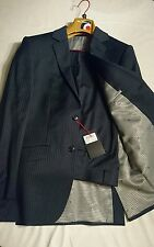 NWT Men's Ben Sherman Navy Blue Classic Pinstripe Suit 38S 100% Wool RRP £249