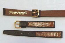 Genuine crocodile watch strap 12 mm french made