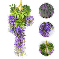 12pcs Wisteria Garland Artificial Silk Flowers Wedding Arch Chuppah Hanging Fake