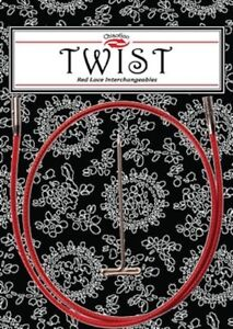 ChiaoGoo Twist Interchangeable Circular Knitting Needle Red Cable (Dif. Sizes)