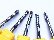 single Blade Aluminium cutting single flute CNC router bits 17mm 3.175 Pack Of 5