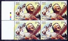 India 2014 MNH Blk of 4, Music Instrument, Ravi Shanker, Colour Guide