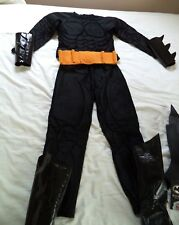 Batman Costume w/Cape and Authentic Rubber Mask for 6/7 Yr Boy