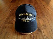 Uss Halsey Ddg-97 Navy Ship Hat U.S Military Official Ball Cap U.S.A Made