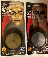 HALLOWEEN MATALLIC GOLD/SILVER GREASE  FOUNDATION_FACE MASK,COSTUME MAKEUP_PICK