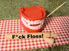 """""""F*CK FLOSS"""" Travel Toothpick Holder! NOVELTY GIFT (Dentist, Teeth, Joke, Gag)"""
