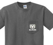 Pocket t-shirt men's Dodge Ram pocket tee for men dark gray dodge trucks