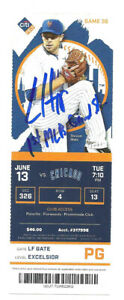 Ian Happ Autographed Ticket 1ST MLB Grand Slam 6/13/17 Cubs vs. Mets w Insc !