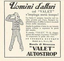 W2986 Rasoio VALET Autostrop - Uomini d'affari... - Pubblicità del 1932 - Old ad