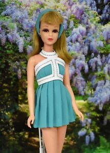 HM OOAK Sea Foam Green For Vintage No Bangs Francie Dress/Swimsuit Free Shipping