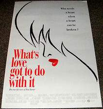 WHAT'S LOVE GOT TO DO WITH IT 1993 ORIGINAL DS MOVIE POSTER! TINA TURNER STORY!