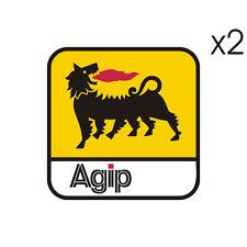 Stickers plastifiés AGIP - Le Mans Moto Guzzi - 8cm x 8cm