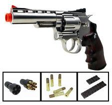 "WG-701s Win-Gun 4""-inch Airsoft Metal Pistol Revolver FREE Shells & Accessories"