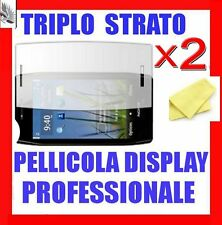 """2x Pellicola """"TRIPLO STRATO""""   NOKIA  X7  + Panno"""