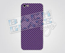 Carbon Fiber Purple decal for iPhone 5 / 5S - glossy vinyl sticker