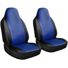 Seat Cover Complete Full Set for Cars Trucks SUVs Vans - PU Leather - 2 Piece