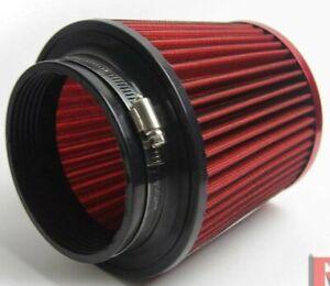 """RED UNIVERSAL 4"""" INLET JDM SHORT RAM/TURBO/COLD AIR FLOW INTAKE FILTER"""