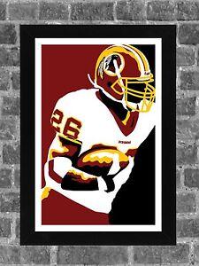 Washington Redskins Clinton Portis Portrait Sports Print Art 11x17