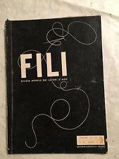 RIVISTA FILI LAVORI D'AGO 48 12/1937 STORIA FAZZOLETTO SMERLI ANTICHI ED. DOMUS