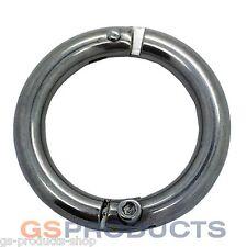 6mm Stainless Steel Lockable Split Ring FREE Postage & Packaging!