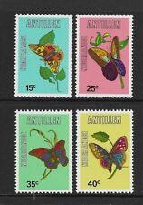 Netherlands Antillies BUTTERFLIES set of 4 MINT NH