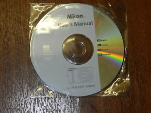 New Nikon OEM Genuine CD with User's Guide Instructions Manual for Coolpix S9100