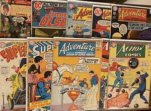 Lot Of 10 DC Silver/Bronze - Action Comics, Superman, Adventure etc 🔥 🔑 🔥