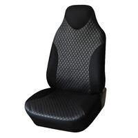 Car Auto SUV Front Seat Cover PU Leather Sports Style Cushion Black (AU Stock)