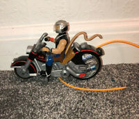 BIKER MICE FROM MARS-THROTTLE'S BLAZING CYCLE + MODO FIGURINE-VINTAGE 90s