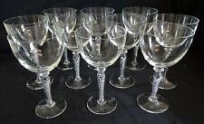 """Blefeld Portugal Swirlette 10 Water Goblets Air Twist Stem 7 1/4"""" Mid Century"""