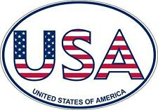 autocollant sticker voiture moto oval drapeau usa etats unis americain texte