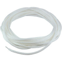 "5/16"" White Flagpole Halyard Rope with Cable Core Stainless Steel 50' USA Made"