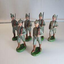 Elastolin 6x preussische Soldaten 10cmSerie Sammlerstücke Lot:LW/17/148/15