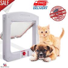 Pet Cat Door For Interior Exterior Doors 4 Way Locking Portal Kitty Pass Through