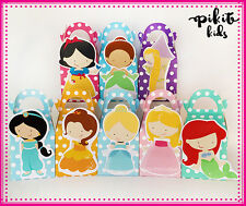 DISNEY PRINCESSES PARTY FAVOUR BOXES BIRTHDAY LOLLY BAGS SUPPLIES DECORATIONS