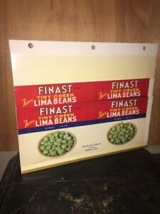 3 CRATE LABEL'S CAN VINTAGE Finast Lima Beans. First National Stores