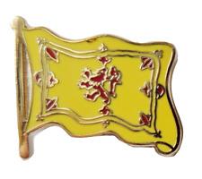 Scotland Lion Rampant Wavy Flag Pin Badge