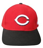 New Era Cincinnati Reds Adjustable Strap Hat Cap - Red / Black