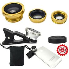 3 in1 Clip On Lens Camera Kit for SONY Phone Set Fish Eye Macro Wide Angle Photo