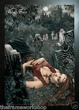Victoria Frances Negro enmarcado eco de la muerte-imagen de fantasía 3D 365mm X 465mm