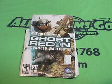 Tom Clancy's Ghost Recon: Advanced Warfighter (PC, 2006) - MANUAL & CDROM