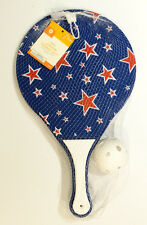New! 3 Piece Junior Tennis Racquet & Ball Set Blue w/ Stars