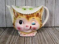 Vintage Enesco Winking Kitty Teapot, Vintage Anthropomorphic Enesco Kitty Teapot