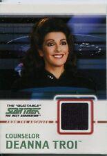Star Trek TNG Quotable Black Costume Card C4 Counselor Deanna Troi